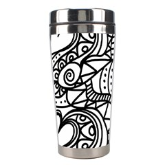 Seamless Tile Background Abstract Stainless Steel Travel Tumblers
