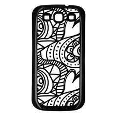 Seamless Tile Background Abstract Samsung Galaxy S3 Back Case (black)