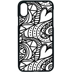 Seamless Tile Background Abstract Apple Iphone X Seamless Case (black)