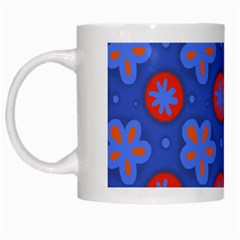Seamless Tile Repeat Pattern White Mugs