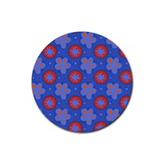 Seamless Tile Repeat Pattern Rubber Coaster (round)