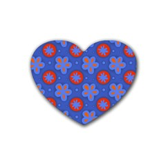 Seamless Tile Repeat Pattern Heart Coaster (4 Pack)