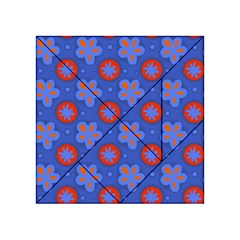 Seamless Tile Repeat Pattern Acrylic Tangram Puzzle (4  X 4 )