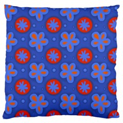 Seamless Tile Repeat Pattern Large Cushion Case (two Sides)