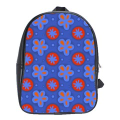 Seamless Tile Repeat Pattern School Bag (xl)