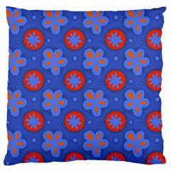 Seamless Tile Repeat Pattern Large Flano Cushion Case (two Sides)