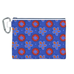 Seamless Tile Repeat Pattern Canvas Cosmetic Bag (l)
