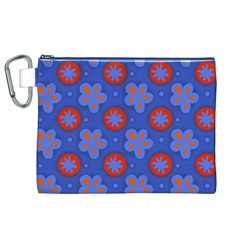 Seamless Tile Repeat Pattern Canvas Cosmetic Bag (xl)