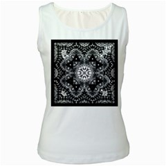 Mandala Calming Coloring Page Women s White Tank Top