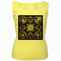 Mandala Calming Coloring Page Women s Yellow Tank Top