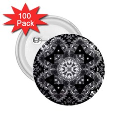 Mandala Calming Coloring Page 2 25  Buttons (100 Pack)