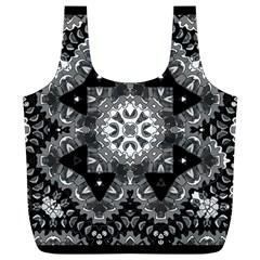 Mandala Calming Coloring Page Full Print Recycle Bags (l)