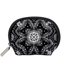 Mandala Calming Coloring Page Accessory Pouches (small)