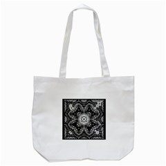 Mandala Calming Coloring Page Tote Bag (white)
