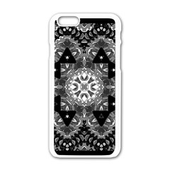 Mandala Calming Coloring Page Apple Iphone 6/6s White Enamel Case