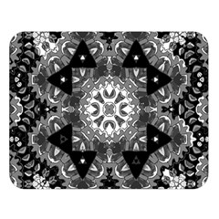 Mandala Calming Coloring Page Double Sided Flano Blanket (large)