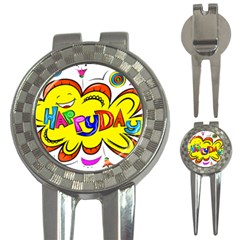 Happy Happiness Child Smile Joy 3 In 1 Golf Divots