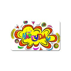 Happy Happiness Child Smile Joy Magnet (name Card)