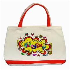 Happy Happiness Child Smile Joy Classic Tote Bag (red)