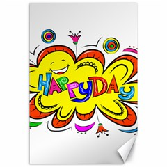 Happy Happiness Child Smile Joy Canvas 24  X 36
