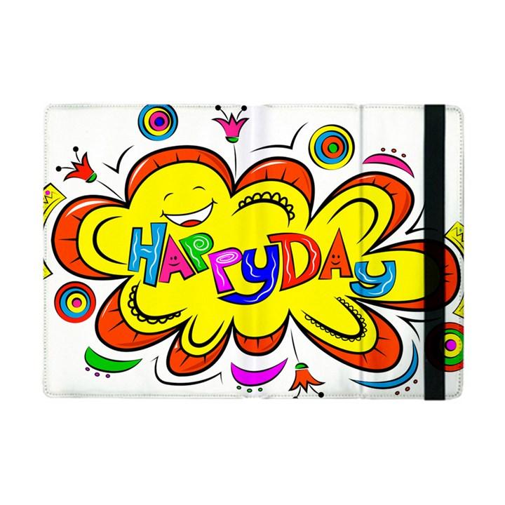 Happy Happiness Child Smile Joy Apple iPad Mini Flip Case