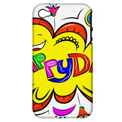 Happy Happiness Child Smile Joy Apple Iphone 4/4s Hardshell Case (pc+silicone)