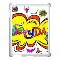 Happy Happiness Child Smile Joy Apple Ipad 3/4 Case (white)