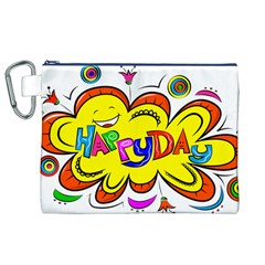 Happy Happiness Child Smile Joy Canvas Cosmetic Bag (xl)