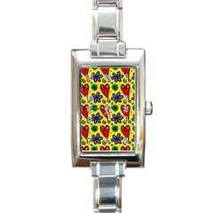 Seamless Tile Repeat Pattern Rectangle Italian Charm Watch