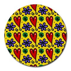 Seamless Tile Repeat Pattern Round Mousepads
