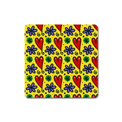 Seamless Tile Repeat Pattern Square Magnet
