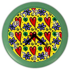 Seamless Tile Repeat Pattern Color Wall Clocks
