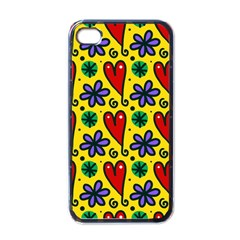 Seamless Tile Repeat Pattern Apple Iphone 4 Case (black)