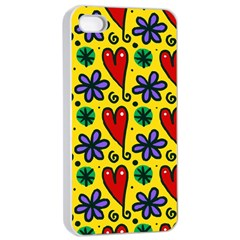 Seamless Tile Repeat Pattern Apple Iphone 4/4s Seamless Case (white)