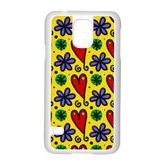 Seamless Tile Repeat Pattern Samsung Galaxy S5 Case (white)