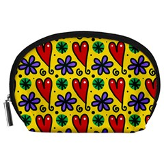 Seamless Tile Repeat Pattern Accessory Pouches (large)