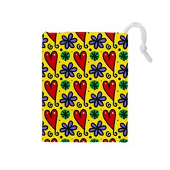 Seamless Tile Repeat Pattern Drawstring Pouches (medium)