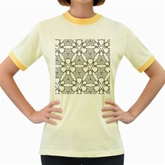 Pattern Design Pretty Cool Art Women s Fitted Ringer T Shirts