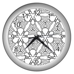Pattern Design Pretty Cool Art Wall Clocks (silver)