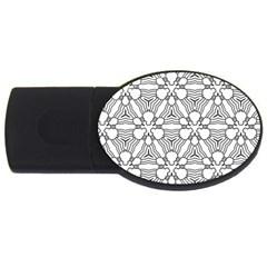 Pattern Design Pretty Cool Art Usb Flash Drive Oval (2 Gb)