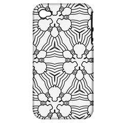 Pattern Design Pretty Cool Art Apple Iphone 4/4s Hardshell Case (pc+silicone)