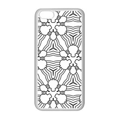 Pattern Design Pretty Cool Art Apple Iphone 5c Seamless Case (white)