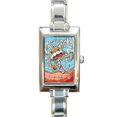 Illustration Characters Comics Draw Rectangle Italian Charm Watch