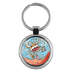 Illustration Characters Comics Draw Key Chains (round)