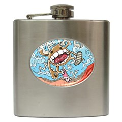 Illustration Characters Comics Draw Hip Flask (6 Oz)