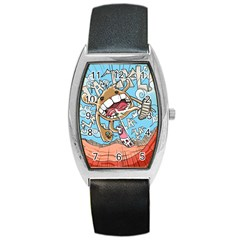 Illustration Characters Comics Draw Barrel Style Metal Watch