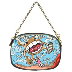 Illustration Characters Comics Draw Chain Purses (two Sides)