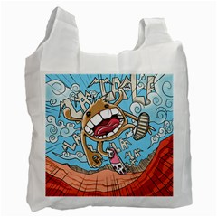 Illustration Characters Comics Draw Recycle Bag (one Side)