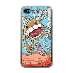 Illustration Characters Comics Draw Apple Iphone 4 Case (clear)