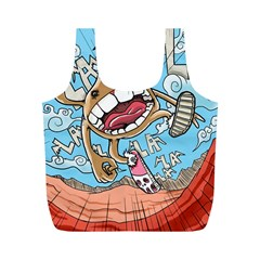 Illustration Characters Comics Draw Full Print Recycle Bags (m)